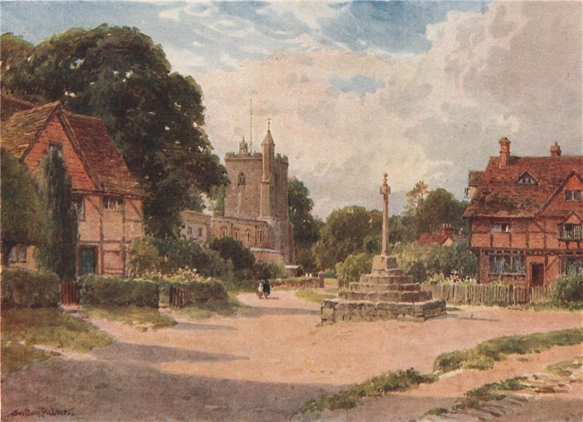 Associate Product East Hagbourne, Oxfordshire, by Harold Sutton Palmer 1929 vintage print