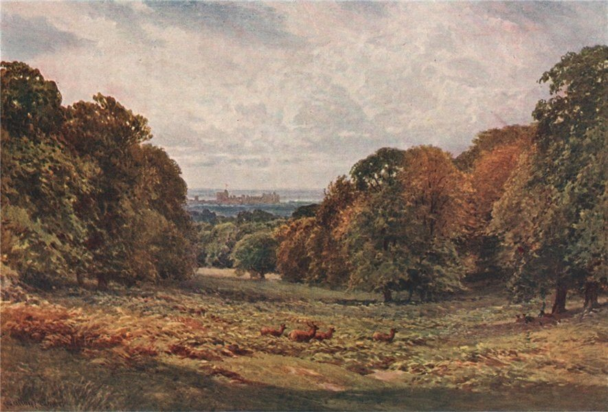 Associate Product Windsor Castle from the Park, Berkshire, by Harold Sutton Palmer 1929 print