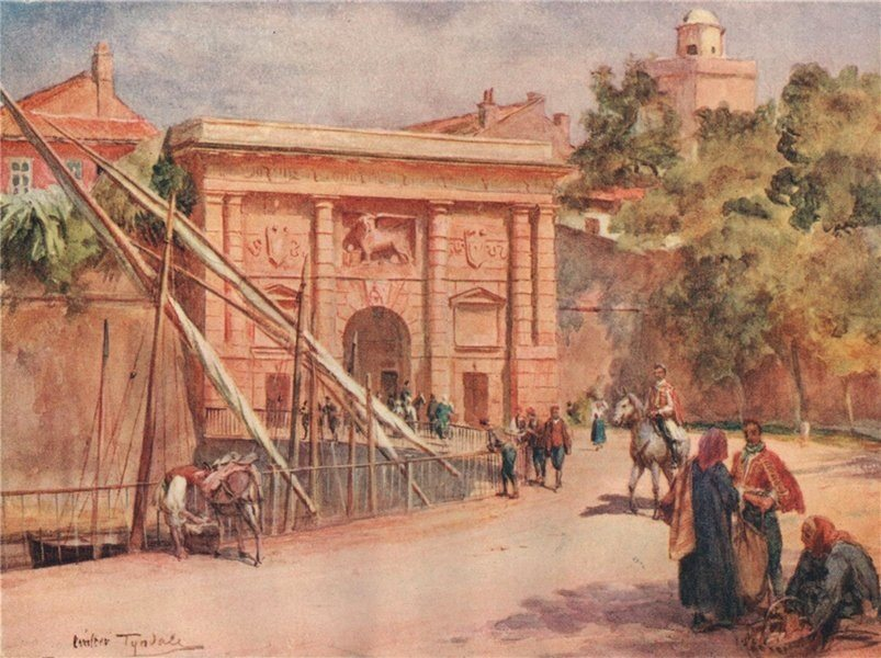 Associate Product Kopnena vrata/Landward Gate, Zadar, Croatia, by Walter Tyndale 1925 old print