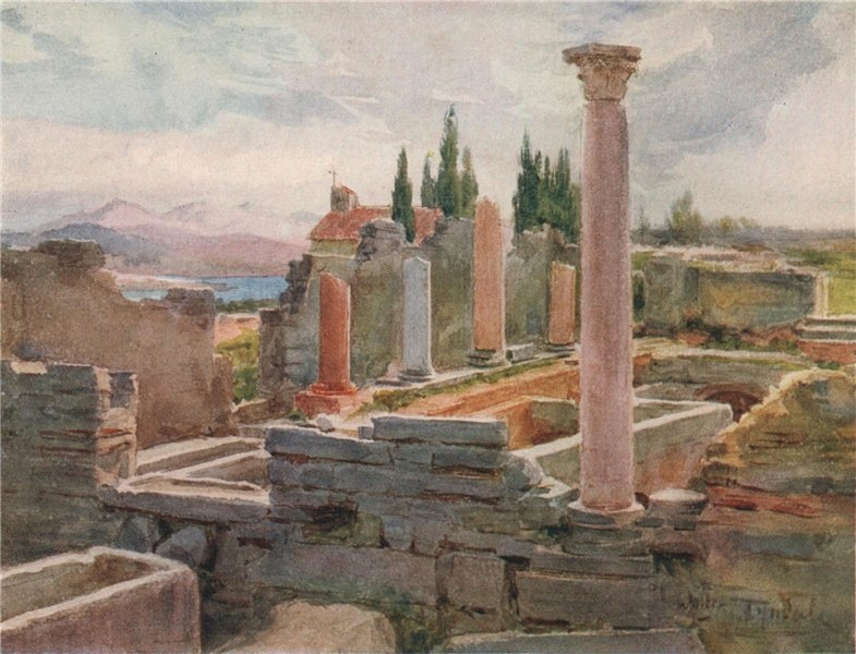 Associate Product The Ruins of Salona, Croatia, by Walter Tyndale 1925 old vintage print picture