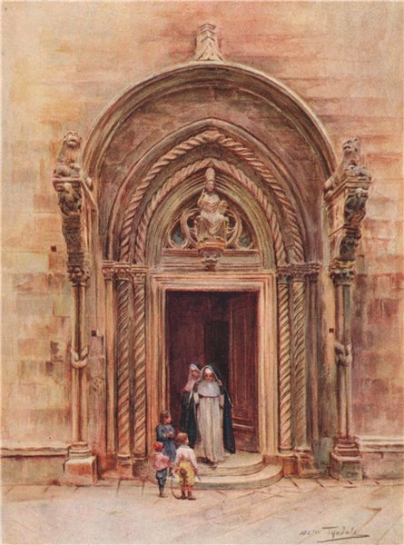 Associate Product St Mark's Cathedral doorway, Korčula/Korcula, Croatia by Walter Tyndale 1925