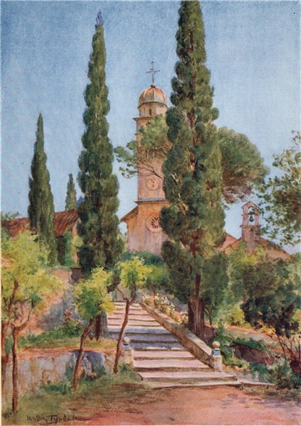 Associate Product The Monastery at Savina, Montenegro, by Walter Tyndale 1925 old vintage print