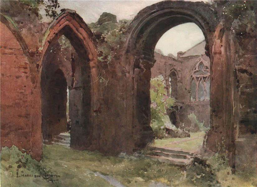 Associate Product Ruins of St. John's Church, east end, Chester, by Edward Harrison Compton 1910