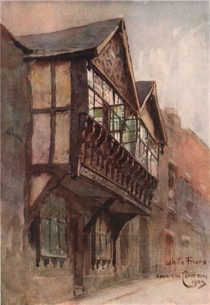 Associate Product Half-timbered house in Whitefriars, Chester, by Edward Harrison Compton 1910
