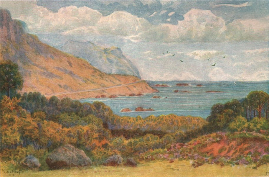 On the Victoria Road, near Oudekraal, Cape Town, by William Westhofen 1910