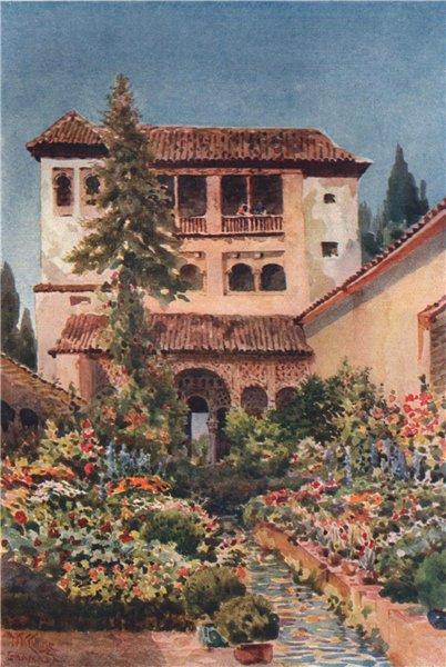 Associate Product The Generalife, Granada, Spain, by William Wiehe Collins 1909 old print