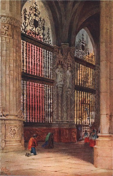 Associate Product The Capilla Mayor, Burgos, Spain, by William Wiehe Collins 1909 old print
