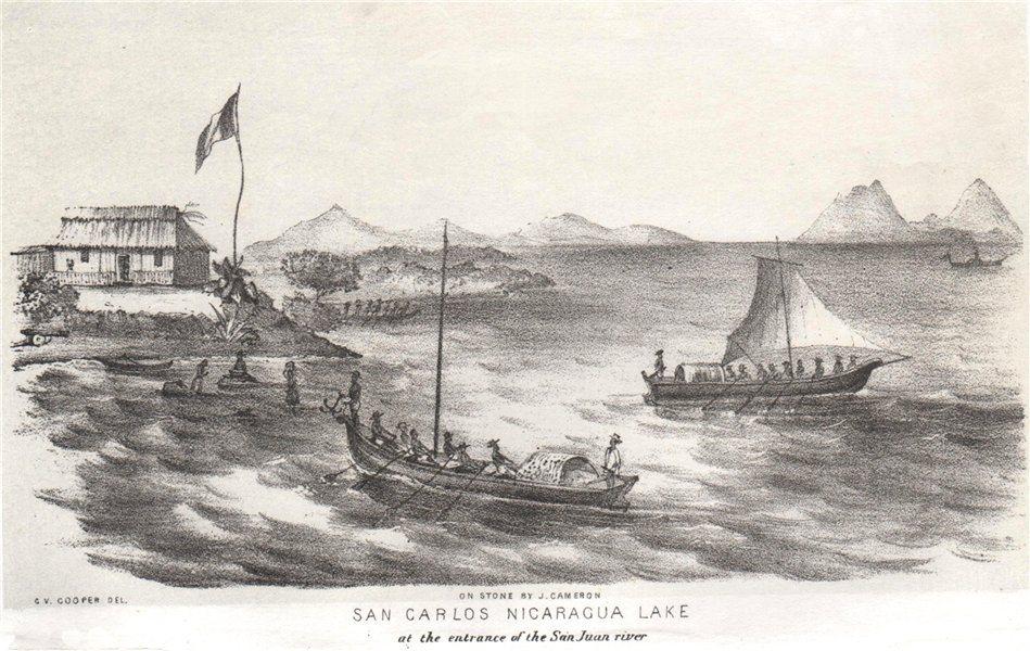 Associate Product 'San Carlos, Nicaragua Lake at the entrance of the San Juan river'. Cooper 1853