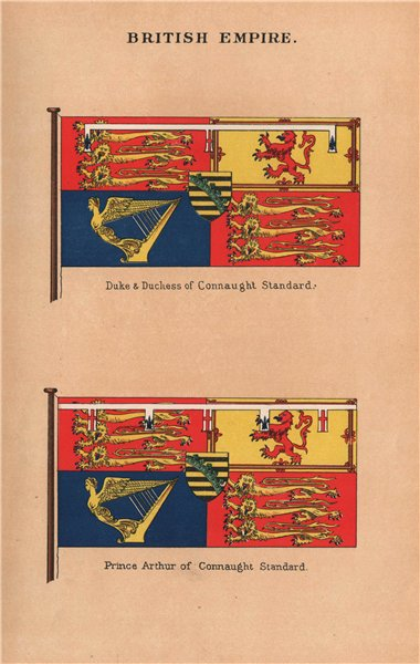 Associate Product BRITISH FLAGS. Prince Arthur and Duke & Duchess of Connaught Standard 1916