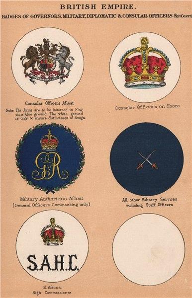 Associate Product BRITISH EMPIRE BADGES. Consuls. Military Authorities. S. Africa High Comm'r 1916