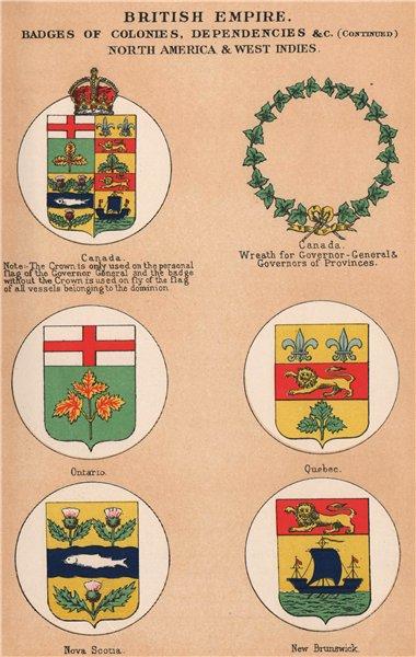 Associate Product BRITISH CANADA BADGES Ontario Quebec Nova Scotia New Brunswick Governor 1916