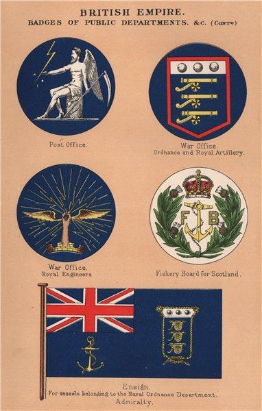 Associate Product BRITISH FLAGS. Post Office.War Office.Scotland Fishery Board.Naval Ordnance 1916