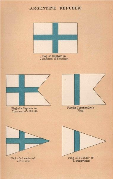Associate Product ARGENTINA FLAGS. Flotilla Captain Commander Subdivision Division Leader 1916