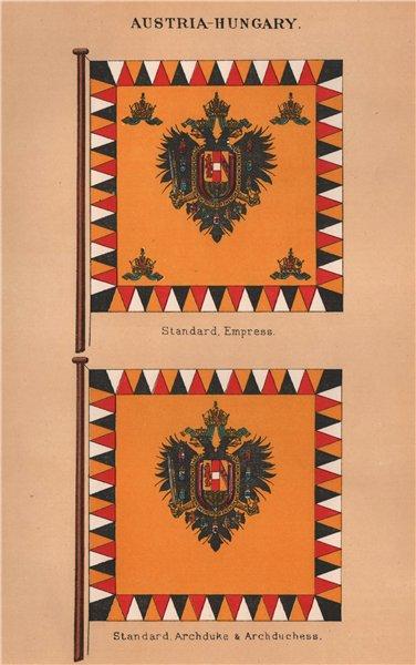 Associate Product AUSTRIA-HUNGARY FLAGS. Empress Standard. Archduke & Archduchess Standard 1916