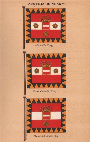 Associate Product AUSTRIA-HUNGARY FLAGS. Admiral's Flag. Vice-Admiral. Rear-Admiral 1916 print