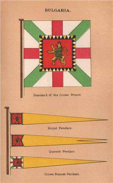 Associate Product BULGARIA FLAGS. Crown Prince's Standard & Pendant. Queen's & Royal Pendant 1916