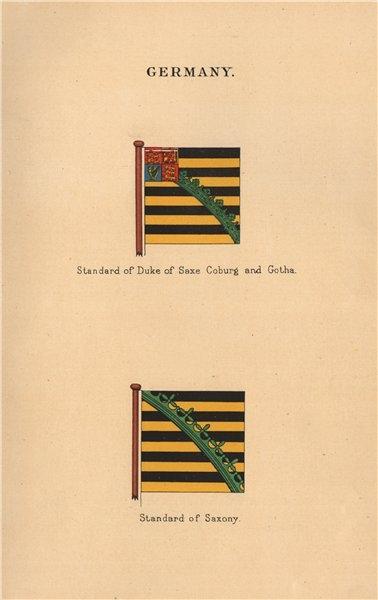 Associate Product GERMANY FLAGS. Standard of Duke of Saxe Coburg & Gotha. Standard of Saxony 1916