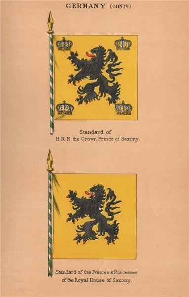 Associate Product GERMANY FLAGS. HRH Crown Prince of Saxony Standard. Royal House of Saxony 1916