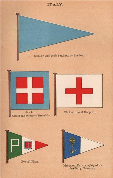 ITALY FLAGS. Senior officer's Pendant. Jack. Naval Hospital. Postal flag 1916