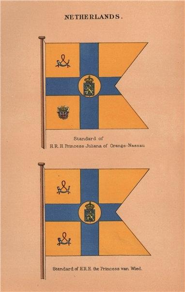Associate Product NETHERLANDS FLAGS HRH Princess Juliana of Orange-Nassau/ van Wied Standards 1916