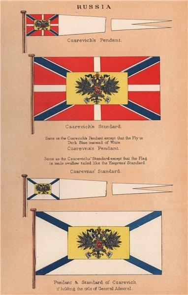 Associate Product RUSSIA FLAGS. Czarevich & Czarevna's Pendants & Standards. General Admiral 1916