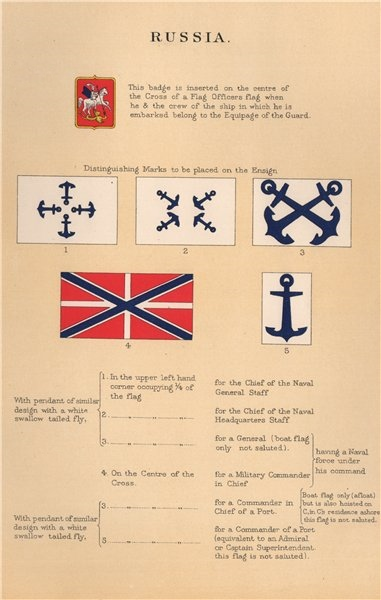 Associate Product RUSSIA FLAGS. Badges. Equipage of the Guard mark. Chief of Staff. General 1916