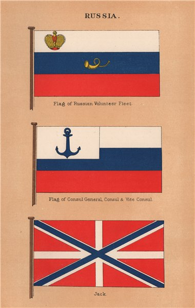 Associate Product RUSSIA FLAGS. Russian Volunteer Fleet. Consul General/Vice Consul. Jack 1916