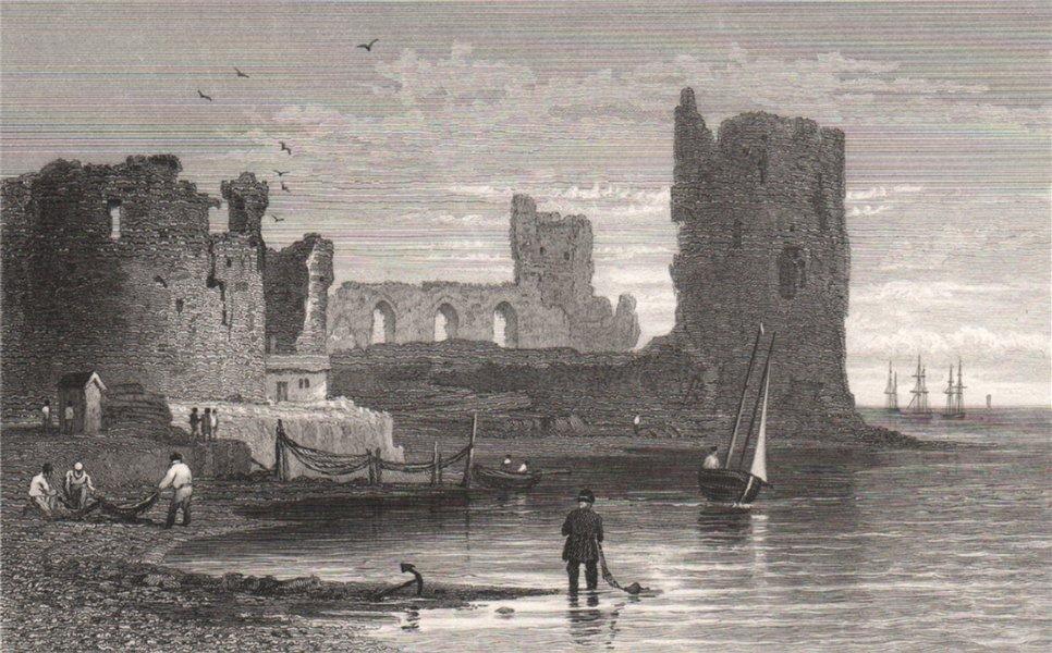 Associate Product Flint Castle, Wales, by Henry Gastineau 1835 old antique vintage print picture