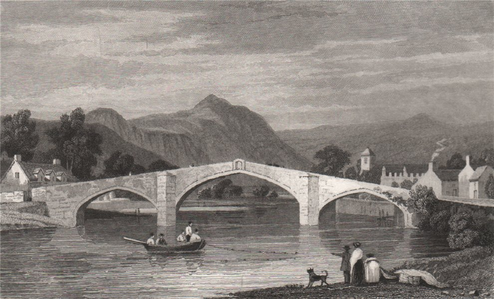 Associate Product Llanrwst Bridge, Denbighshire, built by Inigo Jones, by Henry Gastineau 1835