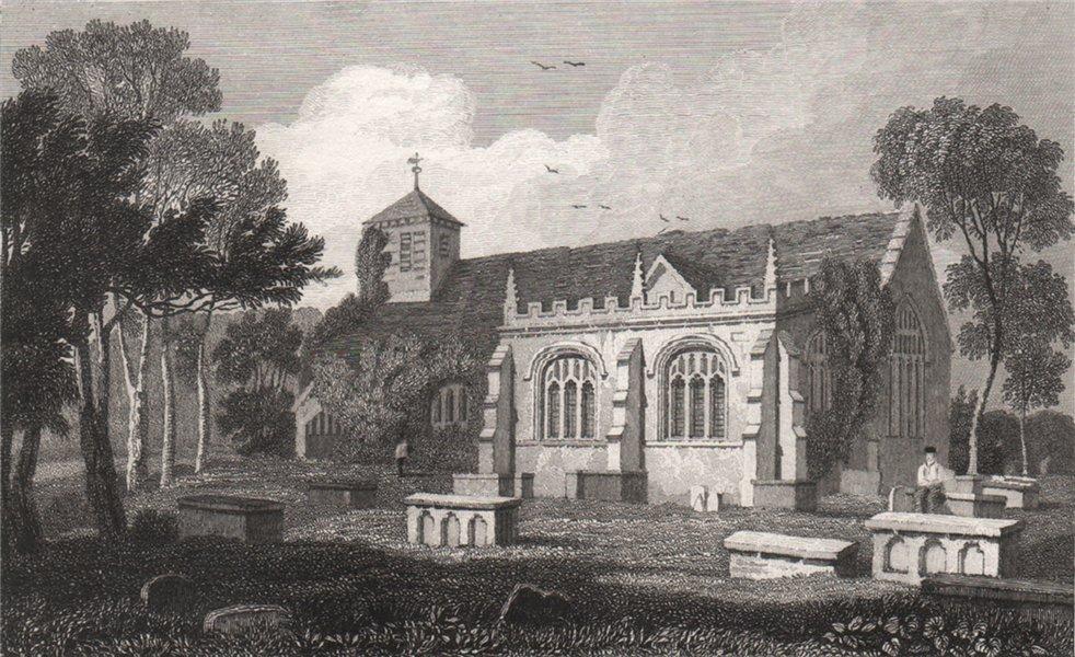 Associate Product Llanrwst Church, Denbighshire, Wales, by Henry Gastineau 1835 old print