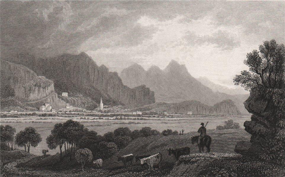 Associate Product Tremadog, Caernarfonshire, Wales, by Henry Gastineau. Snowdonia 1835 old print