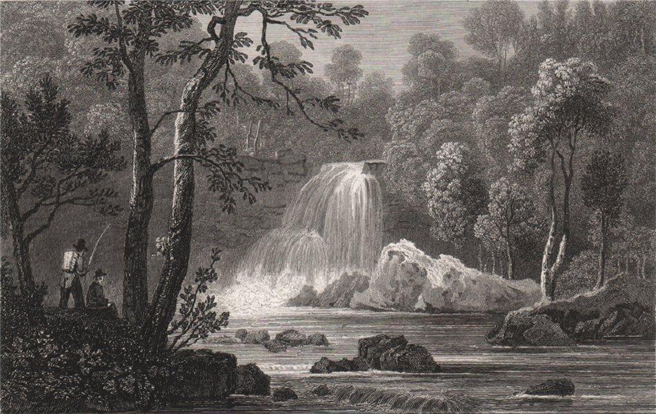 Associate Product Rhaeadr Du, near Tan-y-Bwlch, Merionethshire, by Henry Gastineau. Snowdonia 1835