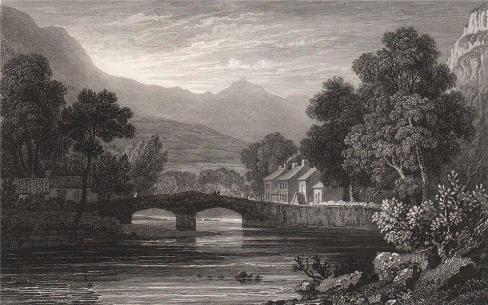 Associate Product Beddgelert, Caernarfonshire, Wales, by Henry Gastineau. Snowdonia 1835 print