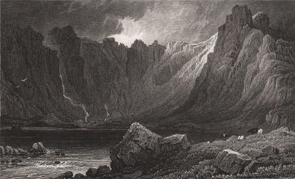 Associate Product Llyn Idwal, Nant Ffrancon pass, Caernarfonshire. Henry Gastineau. Snowdonia 1835