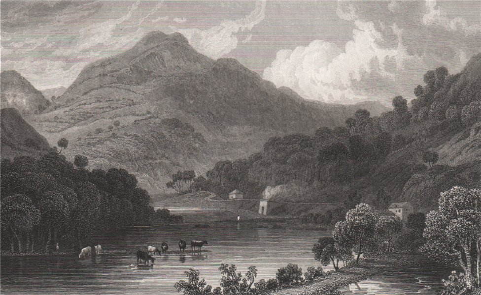 Associate Product View in the Vale of Llangollen, Denbighshire, Wales, by Henry Gastineau 1835