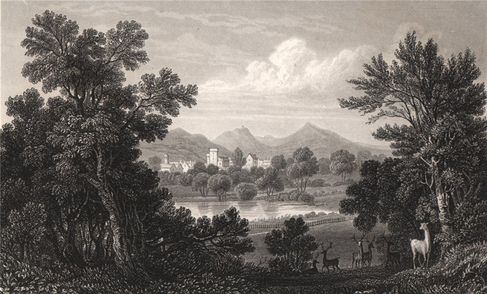 Associate Product Welshpool, from the park, Powis Castle, Montgomeryshire, by Henry Gastineau 1835
