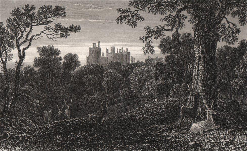 Associate Product Powis Castle, Wales, by Henry Gastineau 1835 old antique vintage print picture