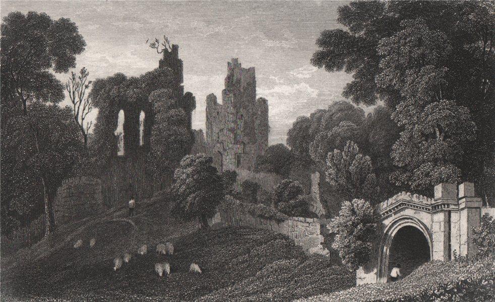 Associate Product Hawarden Castle, Flintshire, Wales, by Henry Gastineau 1835 old antique print