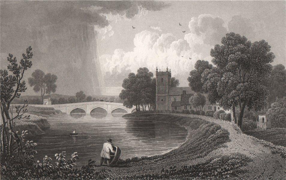 Associate Product Bangor-on-Dee (Bangor-is-y-Coed) Flintshire, Wales, by Henry Gastineau 1835