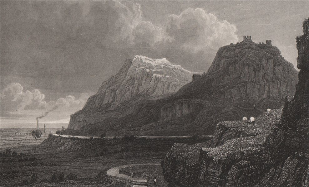 Associate Product Remains of Dyserth Castle, Flintshire, Wales, by Henry Gastineau 1835 print