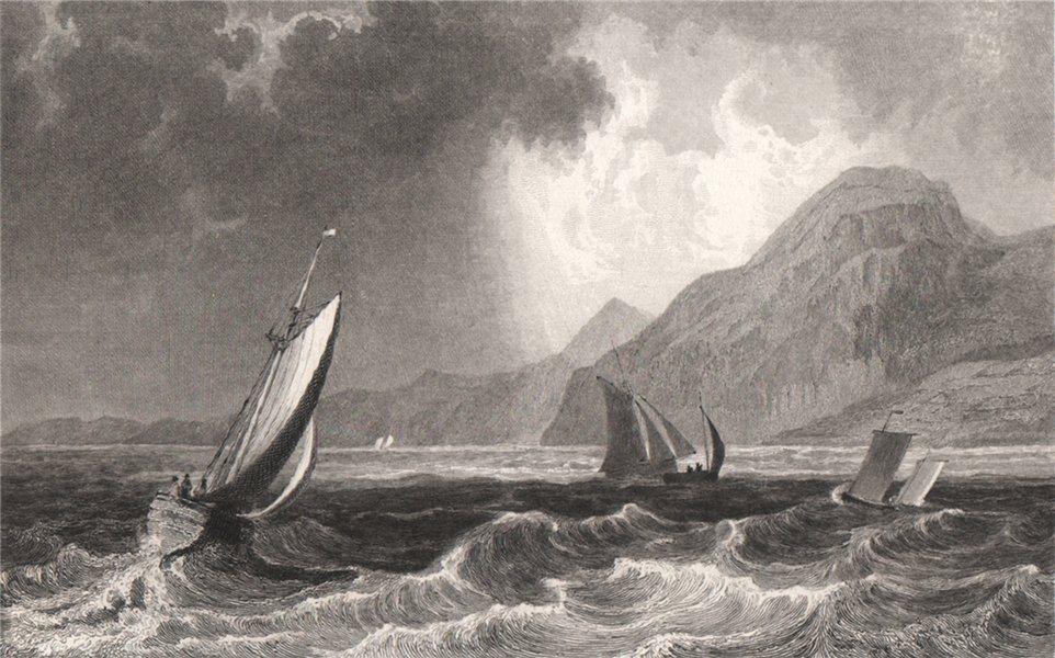 Associate Product Penmaenmawr, Caernarfonshire, Wales, by Henry Gastineau. Snowdonia 1835 print