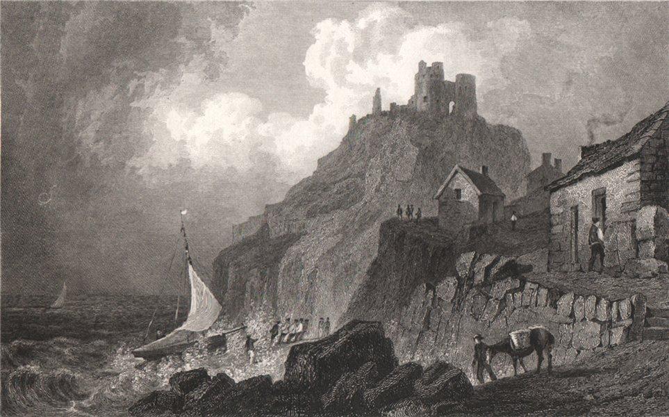 Associate Product Criccieth Castle, Caernarfonshire, Wales, by Henry Gastineau 1835 old print