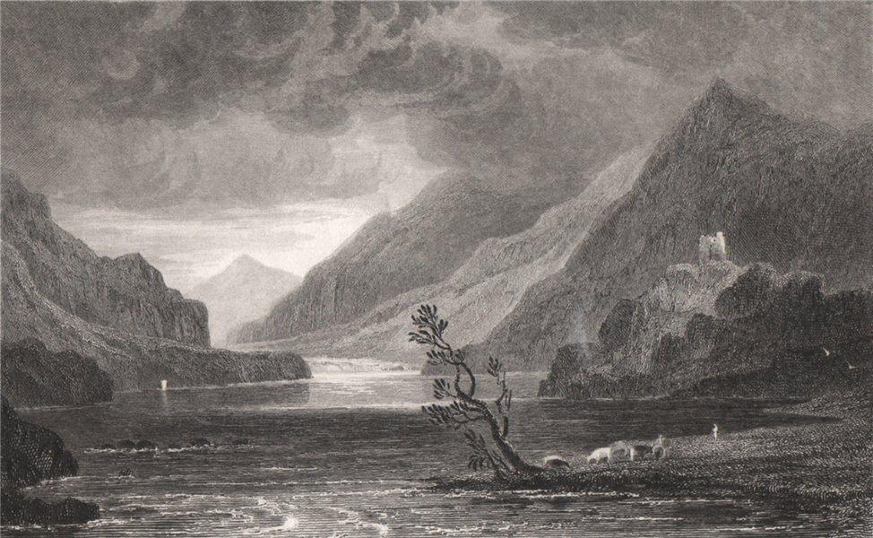 Associate Product Llanberis Lake, Caernarfonshire, Wales, by Henry Gastineau. Snowdonia 1835