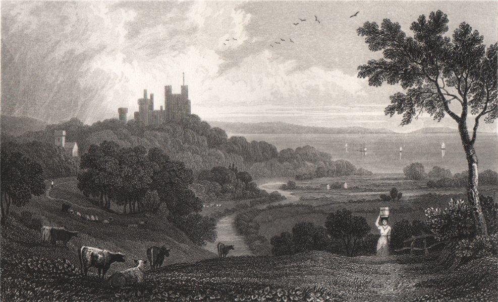 Associate Product Penrhyn Castle, Caernarfonshire, Wales, by Henry Gastineau 1835 old print