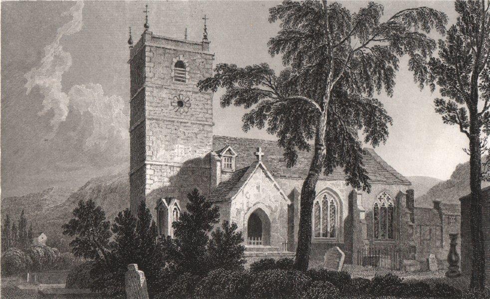 Associate Product Llangollen Church, Denbighshire, Wales, by Henry Gastineau 1835 old print