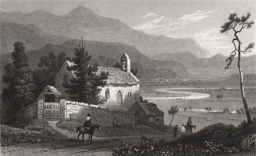 Associate Product Llanelltyd Church nr Dolgellau, Merionethshire. Henry Gastineau. Snowdonia 1835