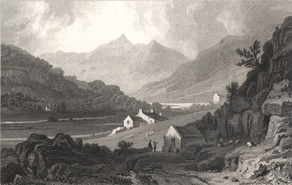 Associate Product Snowdon, from Capel Curig, Caernarfonshire, by Henry Gastineau. Snowdonia 1835