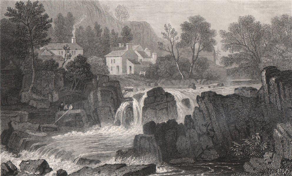 Associate Product Betws-y-Coed, Caernarfonshire, Wales, by Henry Gastineau. Snowdonia 1835 print