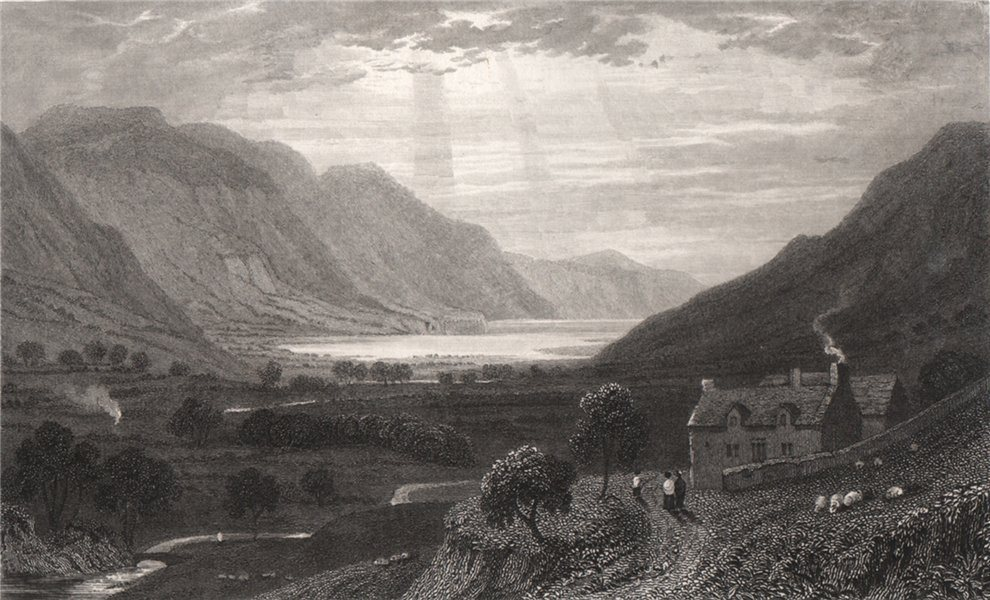 Talyllyn, Merionethshire, Wales, by Henry Gastineau. Snowdonia 1835 old print
