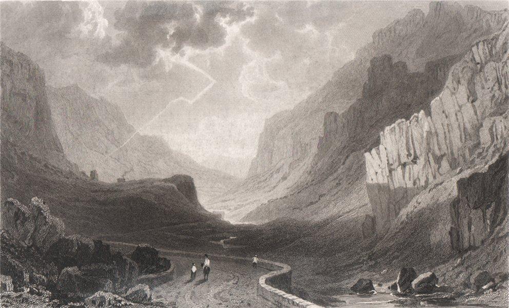 Associate Product Pass of Llanberis, near Capel Curig, Caernarfonshire. Gastineau. Snowdonia 1835